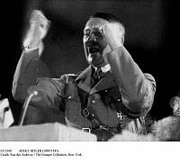0112440 © Granger - Historical Picture ArchiveADOLF HITLER (1889-1945).   Chancellor of Germany, 1933-1945. Addressing a rally, early 1940s.