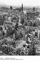 0112471 © Granger - Historical Picture ArchiveDRESDEN: RUINS, 1946.   View of Dresden, Germany, 1946, showing ruins resulting from the Allied firebombing of 13-15 February 1945, near the end of World War II.