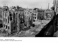 0112472 © Granger - Historical Picture ArchiveDRESDEN: RUINS, 1946.   View of the ruins in Dresden, Germany, resulting from the Allied firebombing of 13-15 February 1945, near the end of World War II. Photographed in August 1946.