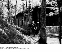 0112492 © Granger - Historical Picture ArchiveHITLER AND GÖRING.   German Chancellor Adolf Hitler (left) and Field Marshal Hermann Göring leaving 'Wolfsschanze' (Wolf's Lair), Hitler's headquarters in East Prussia during World War II, 1941-44.