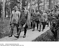 0112599 © Granger - Historical Picture ArchiveHITLER AND MUSSOLINI, 1938.   Italian Prime Minister Benito Mussolini (left) in conversation with German Chancellor Adolf Hitler near Munich, Germany, while attending the peace conference that took place there on 29-30 September 1938.