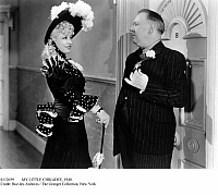 0112659 © Granger - Historical Picture ArchiveMY LITTLE CHIKADEE, 1940.   Mae West and W.C. Fields in a scene from the film 'My Little Chikadee,' 1940.