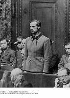 0112881 © Granger - Historical Picture ArchiveNUREMBERG TRIALS, 1946.   Karl Brandt, Hitler's personal physician, one of 23 Nazi physicians prosecuted at the Doctor's Trial in Nuremberg, Germany, after World War II. Brandt was involved in experiments on humans and condemned to death for crimes against humanity.