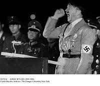 0115162 © Granger - Historical Picture ArchiveADOLF HITLER (1889-1945).   Chancellor of Germany, 1933-45. Photographed while giving a speech, 1940s.