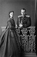 0126462 © Granger - Historical Picture ArchiveALEXANDER III (1845-1894).  Czar of Russia, 1881-94. With his wife, Maria Fyodorovna, née Marie Sophie Frederikke Dagmar, Princess of Denmark, c1865.