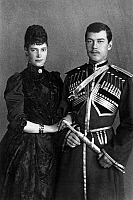 0126464 © Granger - Historical Picture ArchiveMARIA FYODOROVNA   (1847-1928). Née Marie Sophie Frederikke Dagmar. Photographed with her son, the future Czar Nicholas II, late 19th century.