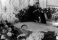 0126465 © Granger - Historical Picture ArchiveMARIA FYODOROVNA   (1847-1928). Née Marie Sophie Frederikke Dagmar. Her body on display in her coffin at the time of her death, 1928.