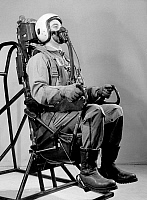 0127570 © Granger - Historical Picture ArchiveEJECTION SEAT, c1965.   A pilot strapped in an ejection seat. Photograph, c1965.