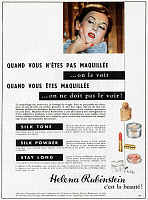 0131127 © Granger - Historical Picture ArchiveCOSMETICS ADVERTISEMENT.   French advertisement for Helena Rubinstein beauty products, 1953.