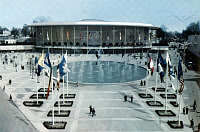 0133462 © Granger - Historical Picture ArchiveWORLD'S FAIR, 1958.   A view of the U.S. pavilion at the World's Fair in Brussels, Belgium, 1958.
