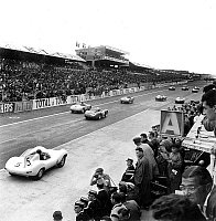 0133788 © Granger - Historical Picture ArchiveFRENCH CAR RACE.   Sanderson and Flockhart won french car race in Le Mans (France) july 30, 1956. Full credit: AGIP - Rue des Archives / Granger, NYC -- All rights reserved.