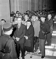 0134076 © Granger - Historical Picture ArchiveJACQUES FESCH.   Jacques Fesch affair (murderer of a policeman), France : here audience at trial april 2, 1957. Full credit: AGIP - Rue des Archives / Granger, NYC -- All rights re