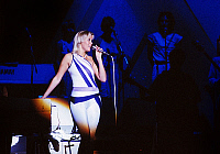0134189 © Granger - Historical Picture ArchiveAGNETHA FALTSKOG.   Agnetha Faltskog singer of swedish group ABBA on stage in 1977. Full credit: AGIP - Rue des Archives / Granger, NYC -- All rights reserved.