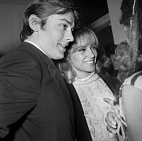 0134328 © Granger - Historical Picture ArchiveALAIN DELON AND SA FEMME NATHALIE.   22nd Nuit du Cinema (movie prize giving) in Paris on november 24, 1967 : Alain Delon and his wife Nathalie. Full credit: AGIP - Rue des Archives / Granger, NYC -- All rights reserved.