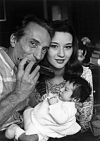 0134510 © Granger - Historical Picture ArchiveALBERT RAISNER AND BRIGITTE KONJOVIC.   Albert Raisner and his wife Brigitte Konjovic (Miss France 1978) with their son Remy october 5, 1981. Full credit: AGIP - Rue des Archives / Granger, NYC -- All rights reserved.