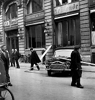 0135671 © Granger - Historical Picture ArchiveATTENTAT AU MONDE, 1961.   bomb attack in front of newspaper Le Monde headquarters in Paris february 17, 1961 at the time of war in Algeria and of the founding of OAS (french terrorist organization opposed to Algerian-independence). Full credit: AGIP - Rue des Archives / Granger, NYC -- All rights r