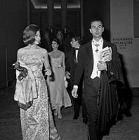 0135886 © Granger - Historical Picture ArchiveBAL OF DEBUTANTES.   Ball of the debutantes in Chaillot palace in Paris on november 20, 1963 : Francois Giscard d'Estaing and Ira de Furstenberg. Full credit: AGIP - Rue des Archives / Granger, NYC -- All rights reserved.