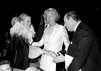 0136048 © Granger - Historical Picture ArchiveBARRE AND GRACE OF MONACO.   french prime minister Raymond Barre greeting Princesse Grace of Monaco and Mrs Claude Pompidou (center) october 10, 1978 during Claude Pompidou foundation charity gala in Paris. Full credit: AGIP - Rue des Archives / Granger, NYC -- All rights reserved.