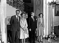 0136073 © Granger - Historical Picture ArchiveBAUDOIN AND FABIOLA OF BELGIQUE WITH THE CARTER.   King Baudouin 1st of Belgium and queen Fabiola with american president Jimmy Carter and his wife Rosalynn at the White House in Washington, may 1980. Full credit: AGIP - Rue des Archives / Granger, NYC -- All rights reserved.