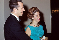 0136086 © Granger - Historical Picture ArchiveBAUDOUIN 1ER AND FABIOLA OF BELGIQUE.   King Baudouin 1st of Belgium and queen Fabiola during an official gala. c. 1975. Full credit: AGIP - Rue des Archives / Granger, NYC -- All Rights Reserved.