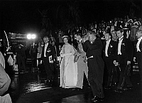 0136120 © Granger - Historical Picture ArchiveBAUDOUIN AND FABIOLA OF BELGIQUE A PARIS.   King Baudouin 1st and queen Fabiola of Belgium in Paris during party in Louvre, Paris, may 24, 1961. Full credit: AGIP - Rue des Archives / Granger, NYC -- All rights reserved.