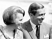 0136181 © Granger - Historical Picture ArchiveBEATRIX OF PAYS BAS AND CLAUS GEORG VON AMSBERG.   princess Beatrix of Holland and prince Claus Georg von Amsberg after official announce of the engagement june 08, 1965. Full credit: AGIP - Rue des Archives / Granger, NYC -- All rights res