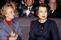 0136291 © Granger - Historical Picture ArchiveBERNADETTE CHIRAC.   Bernadette Chirac wife of mayor of Paris and Liliane Bettencourt at ceremony for election of Andre Bettencourt in Fine arts Academy november 30, 1988. Full credit: AGIP - Rue des Archives / Granger, NYC -- All rights re
