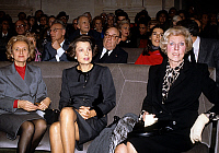 0136292 © Granger - Historical Picture ArchiveBERNADETTE CHIRAC.   Bernadette Chirac wife of mayor of Paris Liliane Bettencourt and Claude Pompidou at ceremony for election of Andre Bettencourt in Fine arts Academy november 30, 1988. Full credit: AGIP - Rue des Archives / Granger, NYC -- All Rights Reserved.