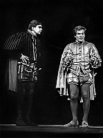 0136372 © Granger - Historical Picture ArchiveBERNARD FRESSON.   french actors Michel Lonsdale and Bernard Fresson during rehearsal of play Rosengrantz et Guildenstern sont morts september 19, 1967 theatre. Full credit: AGIP - Rue des Archives / Granger, NYC -- All rights reserved.