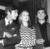 0136798 © Granger - Historical Picture ArchiveBRIALY, DENEUVE AND FREY.   Jean-Claude Brialy, Catherine Deneuve and Samy Frey on september 19, 1967 at reception for presentation of actors of film Manon 70. Full credit: AGIP - Rue des Archives / Granger, NYC -- All rights reserved.