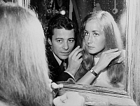 0136892 © Granger - Historical Picture ArchiveBRIGITTE AND JEAN FRANCOIS.   wedding of actress Brigitte Fossey and stage director Jean Francois Adam in Vaucresson may 1968. Full credit: AGIP - Rue des Archives / Granger, NYC -- All Rights Reserved.