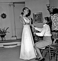 0136895 © Granger - Historical Picture ArchiveBRIGITTE FOSSEY.   young french actress Brigitte Fossey who is about to celebrate her 20th birthday is having her dress made by Miss Carven of Chanel fashion house june 10, 1966. Full credit: AGIP - Rue des Archives / Granger, NYC -- All ri.