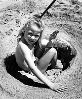 0136897 © Granger - Historical Picture ArchiveBRIGITTE FOSSEY.   Brigitte Fossey on the beach during Cannes film festival april 18, 1953. Full credit: AGIP - Rue des Archives / Granger, NYC -- All rights reserved.