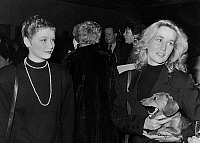 0136899 © Granger - Historical Picture ArchiveBRIGITTE FOSSEY.   Brigitte Fossey and her daughter Marie Adam (l) at Talv Brice's exhibition in Paris december 11, 1987. Full credit: AGIP - Rue des Archives / Granger, NYC -- All Rights Reserved.