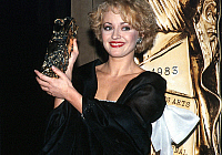 0137472 © Granger - Historical Picture ArchiveCESAR 1983.   Fanny Cottencon receiving best actress Cesar (french movie prize) for film The North Star march 26, 1983. Full credit: AGIP - Rue des Archives / Granger, NYC -- All Rights Reserved.