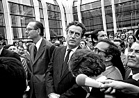 0138128 © Granger - Historical Picture ArchiveCHRISTIAN OF THE MALENE AND JACQUES CHIRAC.   Christian de la Malene, deputy mayor of Paris, and Jacques Chirac, mayor of Paris, at opening of forum des halles september 4, 1979. Full credit: AGIP - Rue des Archives / Granger, NYC -- All ri.