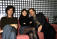 0138175 © Granger - Historical Picture ArchiveCHRISTIAN VINCENT.   director Christian Vincent and his actors Judith Henry and Fabrice Luchini november 09, 1990 after prize for their film La Discrete (The Discreet). Full credit: AGIP - Rue des Archives / Granger, NYC -- All rights reser