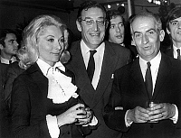 0138499 © Granger - Historical Picture ArchiveCLAUDE GENSAC, LEON ZITRONE AND LOUIS OF FUNES.   Claude Gensac, Leon Zitrone and Louis de Funes at premiere of film The Gendarme Gets Married on october 30, 1968. Full credit: AGIP - Rue des Archives / Granger, NYC -- All rights reserved.