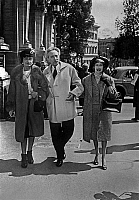 0138677 © Granger - Historical Picture ArchiveCOCO CHANEL.   famous dress designer Coco Chanel with french poet Cocteau and Francine Weisweiller in Rome, 1958. Full credit: AGIP - Rue des Archives / Granger, NYC -- All rights