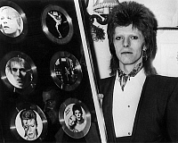 0139615 © Granger - Historical Picture ArchiveDAVID BOWIE RECOIT SIX DISQUES D'OR IN 1974.   The english pop singer, David Bowie received six gold disks for his six album in the shop, by the RCA records, during a reception in a great restaurant in London, on january 3rd 1974. Full credit: AGIP - Rue des Archives / Granger, NYC -- All rights res