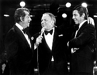 0139733 © Granger - Historical Picture ArchiveDEAN MARTIN, FRANCK SINATRA AND JERRY LEWIS.   Dean Martin, Franck Sinatra and Jerry Lewis during charity tvprogram in favour of the sick organized by Jerry Lewis may 20, 1976. Full credit: AGIP - Rue des Archives / Granger, NYC -- All righ