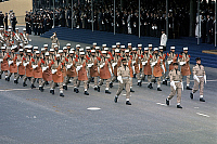 0139788 © Granger - Historical Picture ArchiveDEFILE DU 14 JUILLET.   parade of the french Foreign Legion on the Champs Elysees avenue in Paris on Bastille-day july 14, 1973. Full credit: AGIP - Rue des Archives / Granger, NYC -- All Rights Reserved.