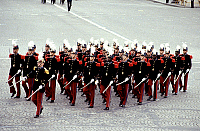 0139796 © Granger - Historical Picture ArchiveDEFILE DU 14 JUILLET.   parade of the Saint Cyr Militairy School on the Champs Elysees avenue in Paris on Bastille-day july 14, 1981. Full credit: AGIP - Rue des Archives / Granger, NYC -- All Rights Reserved.