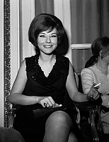 0139880 © Granger - Historical Picture ArchiveDENISE FABRE.   Denise Fabre, french tv-announcer, here april 01, 1964. Full credit: AGIP - Rue des Archives / Granger, NYC -- All Rights Reserved.