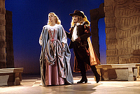 0140179 © Granger - Historical Picture ArchiveDON JUAN.   Anne Le Fol (Elvire) and Jean Noel Sissia (Dom Juan) in play Don Juan by Moliere december 15, 1984 in Paris. Full credit: AGIP - Rue des Archives / Granger, NYC -- All Rights Reserved.