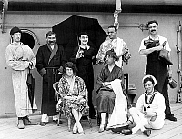 0140591 © Granger - Historical Picture ArchiveEDOUARD PRINCE OF GALLES.   prince of Wales (future king Edward VIII and future duke of Windsor) playing theatre on Repulse liner (front row left), before 1936 - deguise deguisement fancy dress. Full credit: AGIP - Rue des Archives / Granger, NYC -- All Rights Reserved.