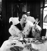 0140609 © Granger - Historical Picture ArchiveEDWIGE FEUILLERE.   Edwige Feuillere going to Cannes film festival by train march 24, 1954. Full credit: AGIP - Rue des Archives / Granger, NYC -- All rights reserved.