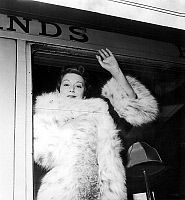 0140610 © Granger - Historical Picture ArchiveEDWIGE FEUILLERE.   Edwige Feuillere going to Cannes film festival by train march 24, 1954. Full credit: AGIP - Rue des Archives / Granger, NYC -- All rights reserved.