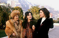 0140619 © Granger - Historical Picture ArchiveEDWIGE FEUILLERE.   actresses Edwige Feuillere, Fanny Ardant and Nina Companez Degad february 11, 1980. Full credit: AGIP - Rue des Archives / Granger, NYC -- All rights reserved.