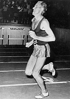 0140909 © Granger - Historical Picture ArchiveEMIL ZATOPEK.   Emil Zatopek (1922-2000) czech runner during race in Greece august 16, 1957. Full credit: AGIP - Rue des Archives / Granger, NYC -- All rights reserved.